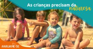 As crianças precisam da natureza | Crianças na piscina | Aruanã Hotel e Acampamento